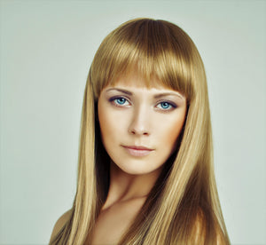 Bleach Blonde Clip-In Bangs-Luisant Hair