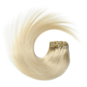 "Bleach Blonde Clip-In Hair-18""-150g"