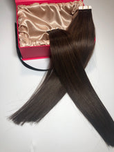 "Load image into Gallery viewer, Dark Brown-Tape Hair-18""-100g"