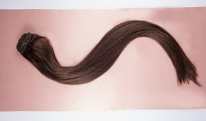 "Dark Brown Clip-In Hair Extensions-18""-150g-Luisant Hair"