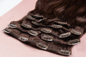 "Dark Brown Clip-In Hair Extensions-24""-220g-Luisant Hair"