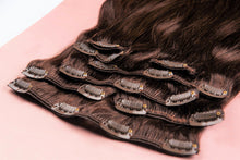 "Load image into Gallery viewer, Coffee Brown Clip-In Hair Extensions-24""-220g-Luisant Hair"