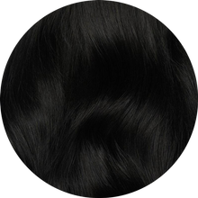 "Load image into Gallery viewer, Dark Black Tape-In Hair Extensions-16""-100g-Luisant Hair"