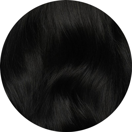 Dark Black Clip-In Hair Extensions-16