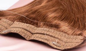 "Chestnut Brown Halo Hair Extensions-16""-120g-Luisant Hair"