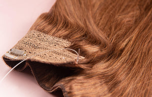 "Coffee Brown Halo Hair Extensions-20""-180g-Luisant Hair"