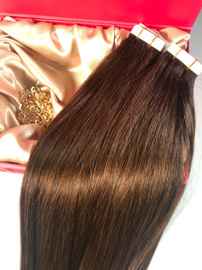 "Coffee Brown Tape Hair-20""-100g"