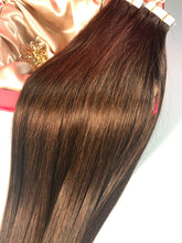 "Load image into Gallery viewer, Coffee Brown Tape Hair-16""-100g"