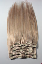 "Load image into Gallery viewer, Ash Blonde Clip-In Hair-24""-220g"