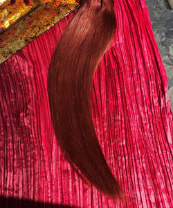 "Burgundy Tape-In Hair Extensions-24""-100g-Luisant Hair"
