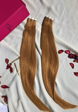"Load image into Gallery viewer, Dark Blonde Tape-In Hair Extensions-20""-100g-Luisant Hair"