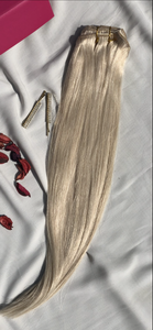 "Bleach Blonde Clip-In Hair Extensions-18""-150g-Luisant Hair"