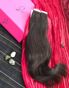 "Burgundy Tape-In Hair Extensions-20""-100g-Luisant Hair"