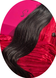 "Dark Black Clip-In Hair Extensions-16""-120g-Luisant Hair"