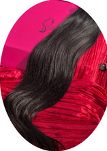 "Load image into Gallery viewer, Dark Black Clip-In Hair Extensions-18""-150g-Luisant Hair"