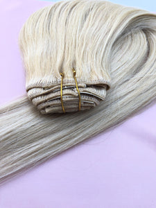 "Bleach Blonde Clip-In Hair-20""-180g"