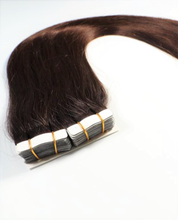 "Load image into Gallery viewer, Coffee Brown Tape-In Hair Extensions-16""-100g-Luisant Hair"