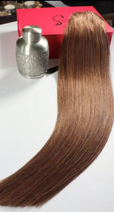 "Ash Brown Clip-In Hair-20""-180g"