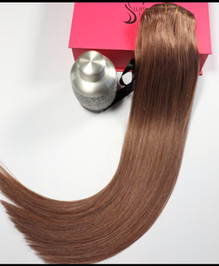 "Ash Brown Virgin Hair-18""-150g"