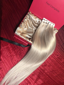 "Platinum Blonde-Tape Hair-24""-100g"