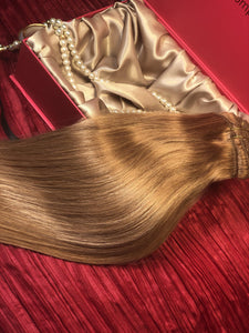 "Dirty Blonde-Clip In Hair-16""-120g"