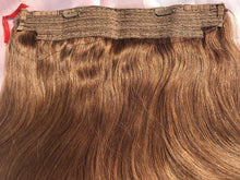 "Load image into Gallery viewer, Chestnut Brown Halo Hair Extensions-16""-120g-Luisant Hair"