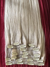 "Load image into Gallery viewer, Platinum Blonde-Clip In Hair-16""-120g"