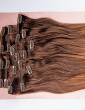 "Load image into Gallery viewer, Dark Brown Ombre Hair Extensions-20""-180g-Luisant Hair"