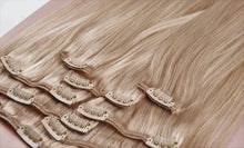 "Load image into Gallery viewer, Ash Blonde Clip-In Hair Extensions-24""-220g-Luisant Hair"