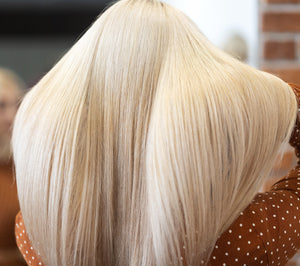 "Platinum Blonde-Clip In Hair-18""-150g"