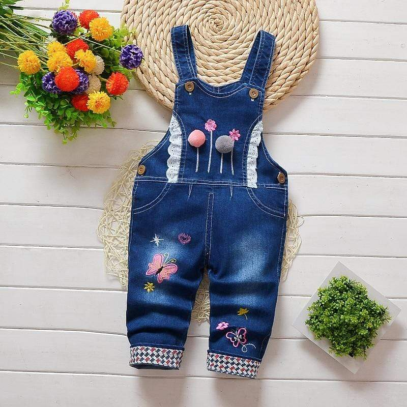 Laylloo Baby jeans girls Bow-knot Printing Pants