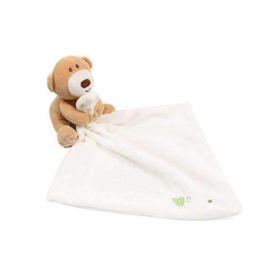 laylloo Toy Security Towel Bear White Toy towel Baby Newborn for Comfort