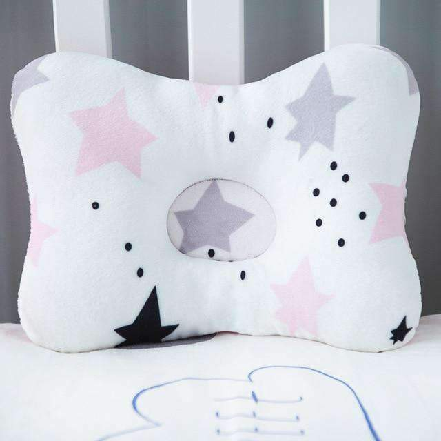 laylloo Pillow Black pink star Pillow head support Protection for Newborn Baby