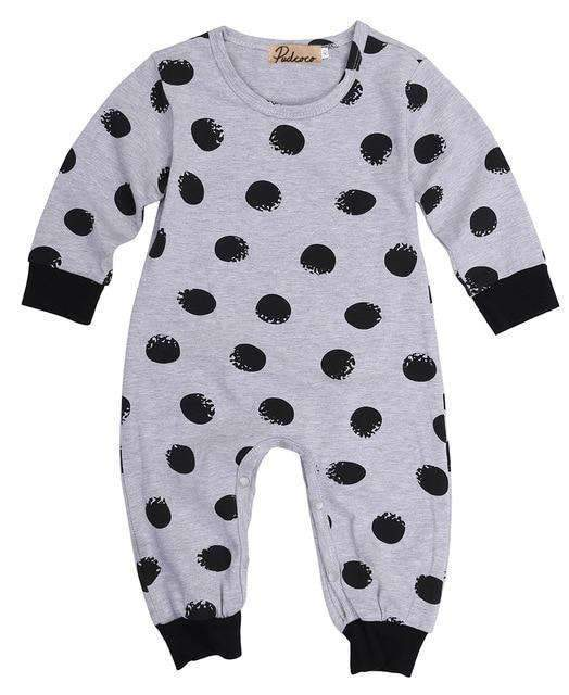 laylloo Rompers Gray / 3M Baby Rompers Newborn New 2020 in Fashion Dot