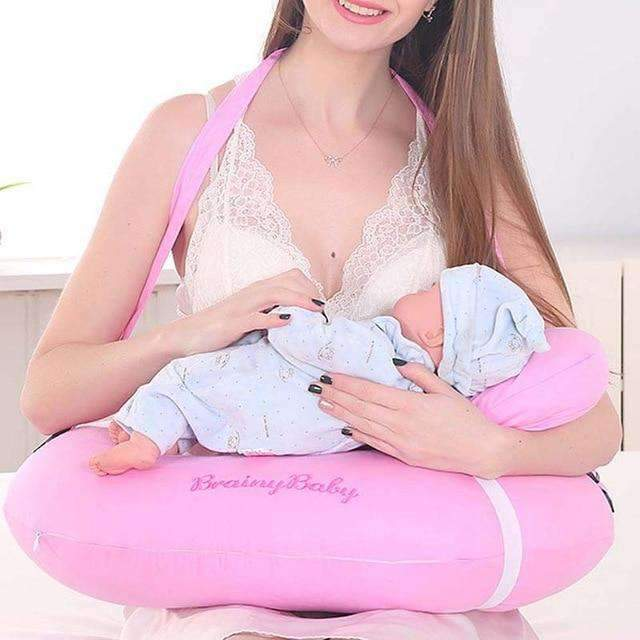laylloo Pillow Pink U-Shaped Pillow for Newborn Baby Breastfeeding
