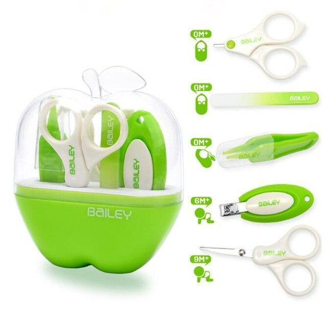 laylloo Nail Scissors Verde Baby Nail Scissors 5 PCS/Set + gift