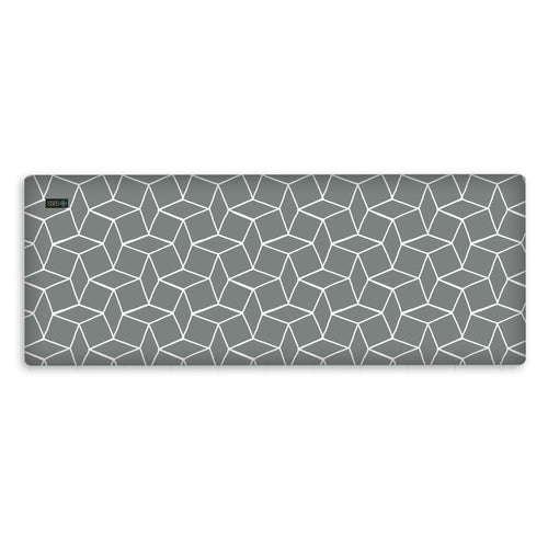 grey geometric ironing pad