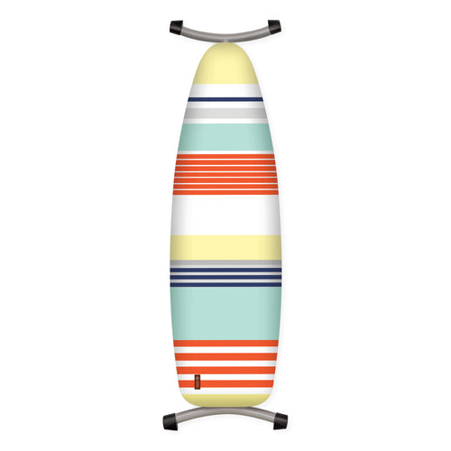 orange yellow blue stripe ironing board cover