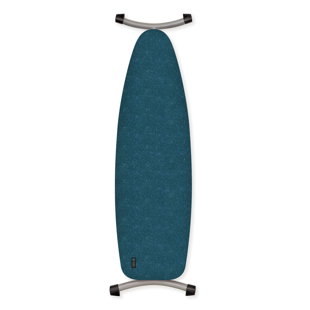 metallic teal ironing board cover