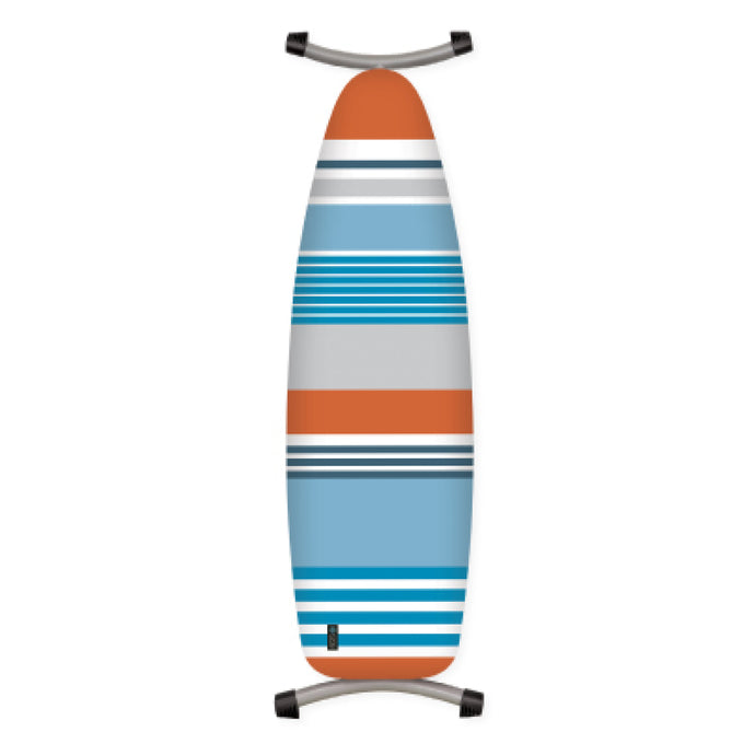 blue and orange stripe ironing board cover