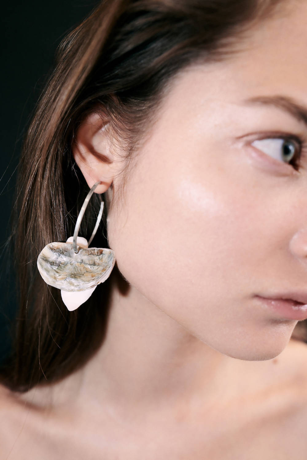 OYSTER SILVER HOOPS