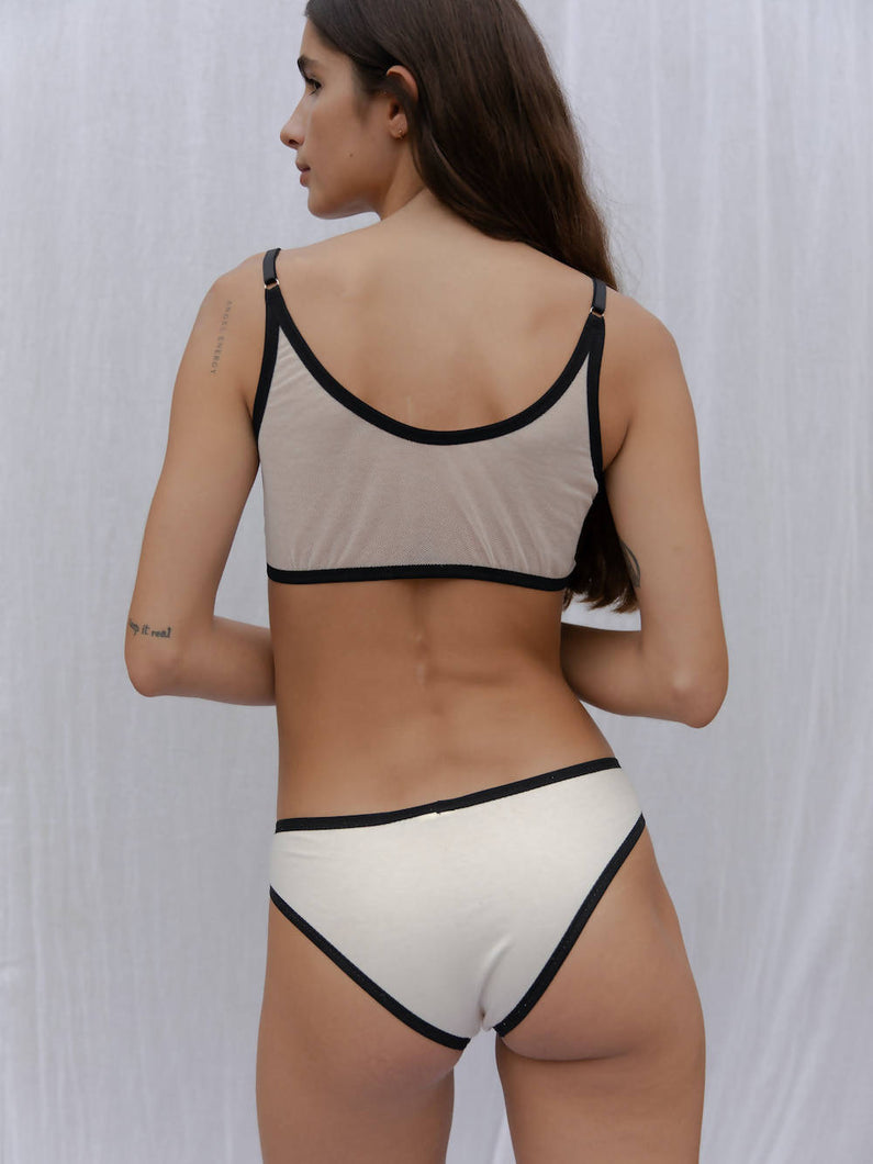 Load image into Gallery viewer, Iara Pantie Black/ Ecru