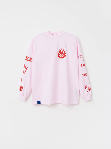 PINK LONG SLEEVE FIRE-FLOWER