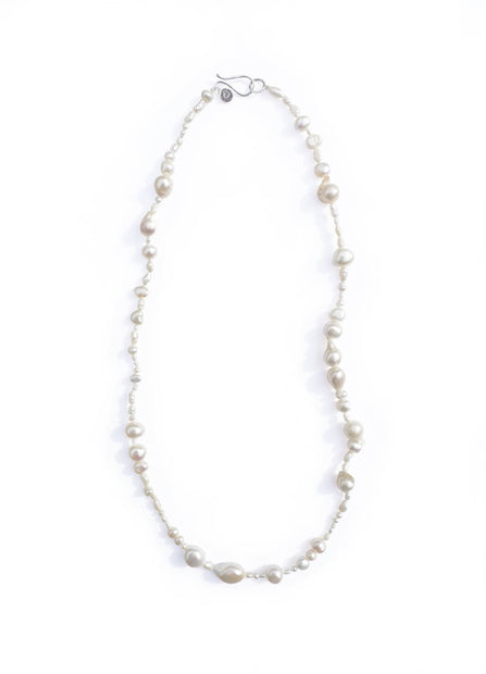 Salvaged Pearl Necklace