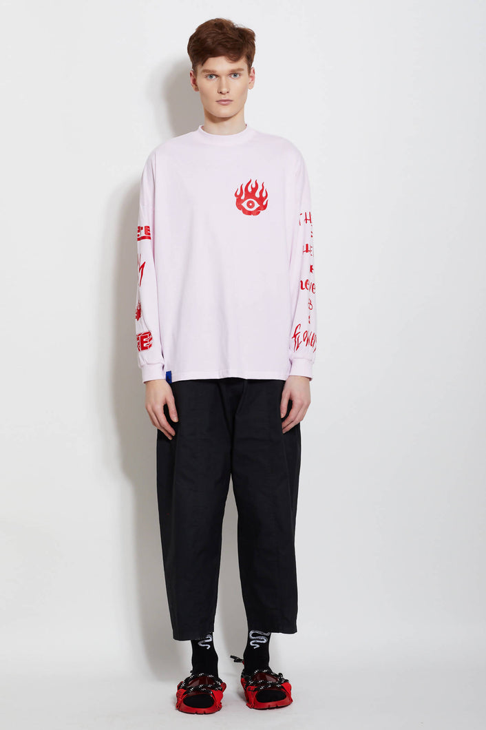 Load image into Gallery viewer, PINK LONG SLEEVE FIRE-FLOWER