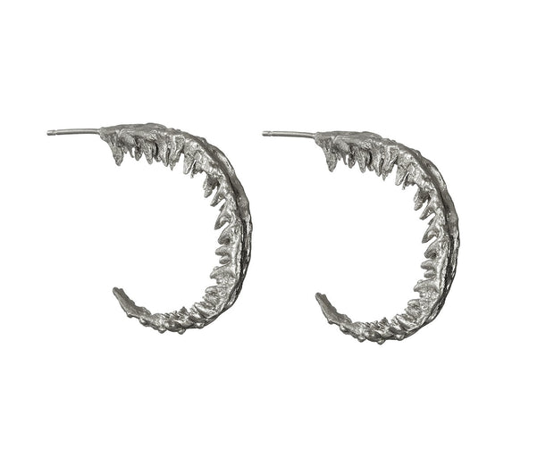 Fern hoop earrings