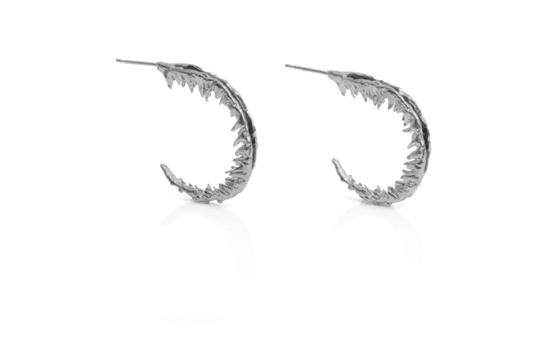 Fern hoops black enamel