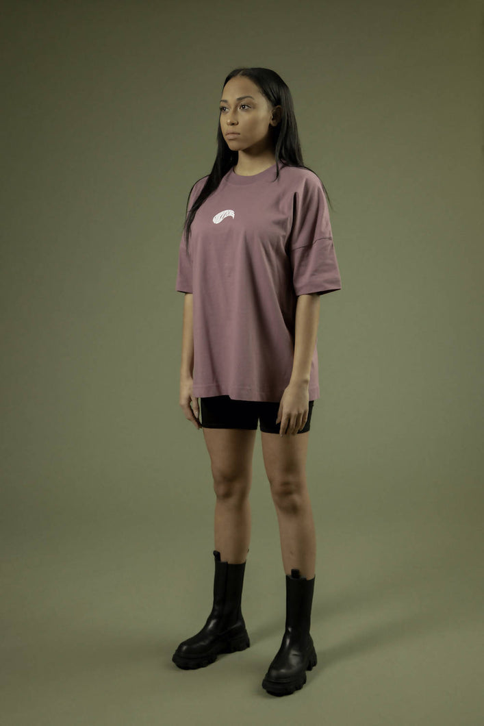 Load image into Gallery viewer, BACKTOBACK Mauve Droplet Organic T-Shirt