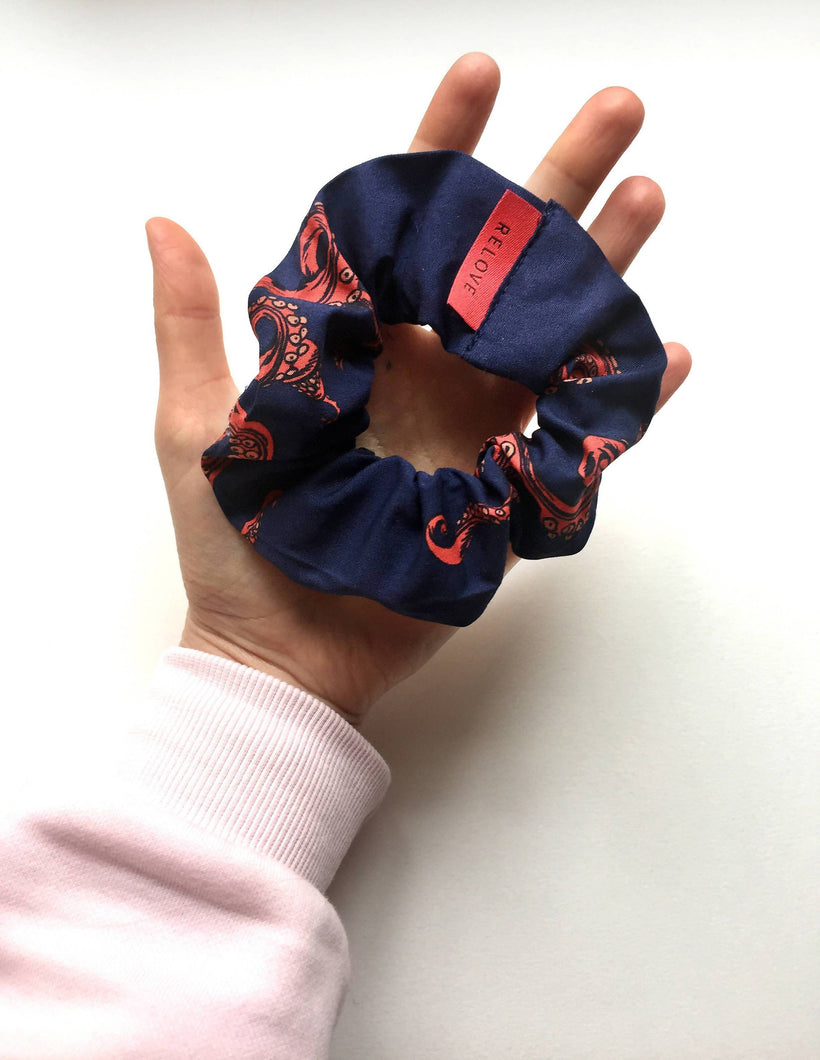 Load image into Gallery viewer, BLUE SCRUNCHIE from the RELOVE line