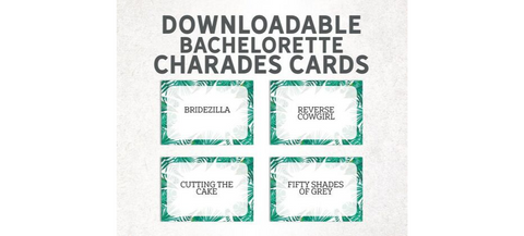 Charades | Bachelorette Party Games | Bachelorette Party Game Ideas | Bachelorette Party | Bachelorette Party Decorations | Bachelorette Party Favors | Bachelorette Party Supplies |